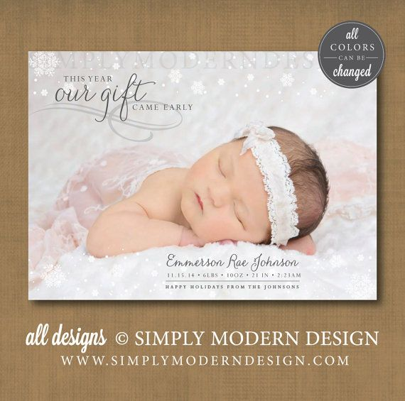 New Baby Announcement Gift Ideas : Birth announcement christmas card mybabydoo