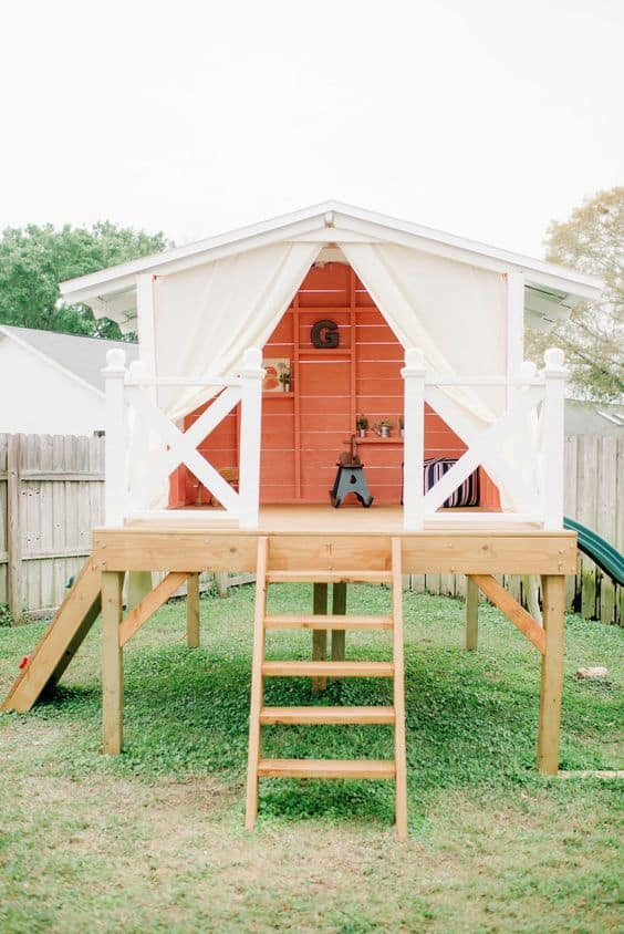 fancy backyard playhouse